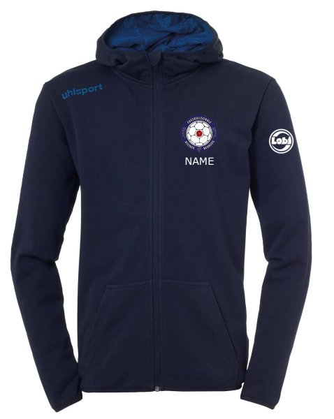 Essential Hood Jacket Vereinsnamen und Vereinswappen von Fussballschule Kleiner Heuberg