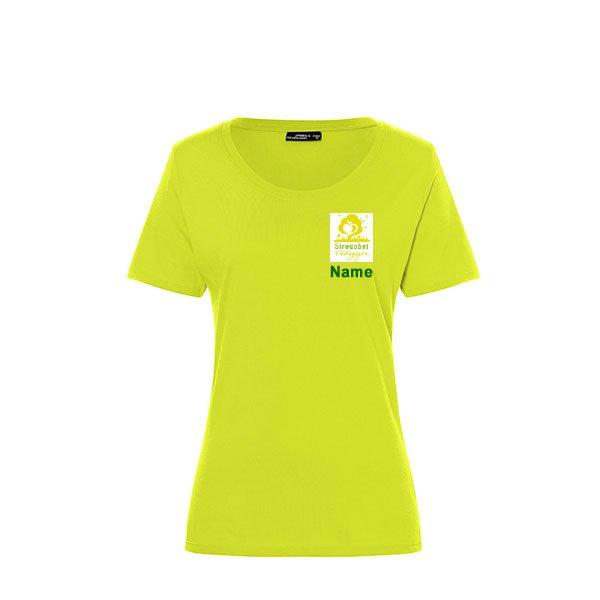 Frauen Shirt Inklusive Streuobst Pädagogen Brustwappen / Namen sowie Rückendruck