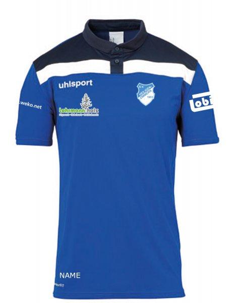 Offense 23 Polo Shirt SV Heiligenzimmern / Vereinswappen / 3 Sponsoren und Namenskürzel