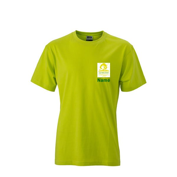 Shirt Inklusive Streuobst Pädagogen Brustwappen / Namen sowie Rückendruck